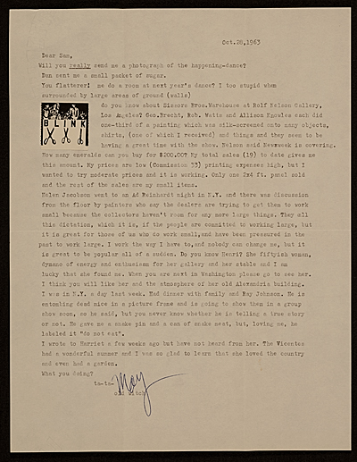 May Wilson letter to Samuel J. Wagstaff