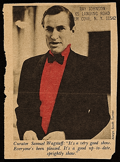 [Newspaper clipping of photo of Samuel Wagstaff]