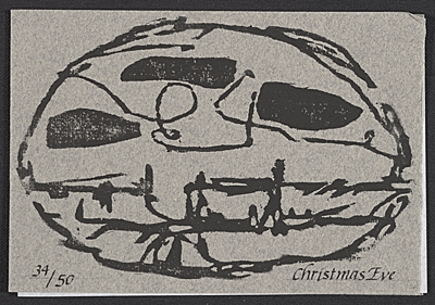Richard Tuttle Christmas card to Samuel Wagstaff