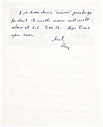 [Roy Fox Lichtenstein, New York, N.Y. letter to Samuel J. Wagstaff page 2]