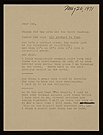 Walter DeMaria letter to unidentified recipient