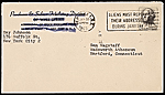 [Ray Johnson, New York, N.Y. mail art to Samuel J. Wagstaff, Hartford, Conn. envelope 2]