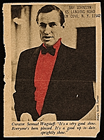 Newspaper clipping of photo of Samuel Wagstaff