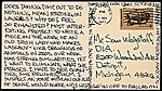 [Richard Tuttle, New York, N.Y. postcard to Samuel J. Wagstaff, Detroit, Mich. ]