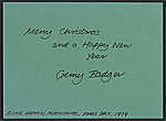 [Gerry Badger Christmas card to Samuel J. Wagstaff verso 1]