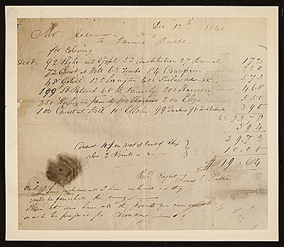 Reproduction of a Currier & Ives receipt