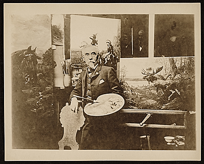 Louis Maurer in his studio