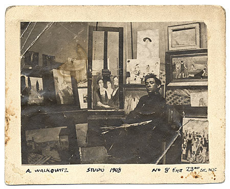 [Abraham Walkowitz in his studio]