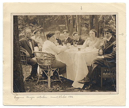 [Artists dining outdoors at Mt. Kisco]