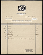 Receipt from The Potters Shop, Inc. to Carl Walters