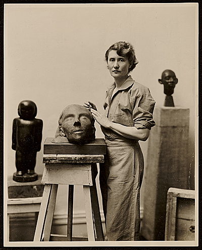 Marion Walton at work in her studio