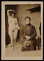 Alberto Giacometti and artists' model Carmen Damedoz