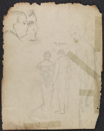 [Study sketches of John Daniel II verso 1]