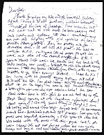 Michael Lucero, New York, N.Y. letter to Patti Warashina