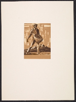 [Bookplate, sower city background ]