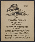 Brooklyn Society of Etchers announcement for exhibition at the Brown-Robertson Gallery