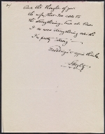 [Alfred Stieglitz letter to Keith Warner 1]