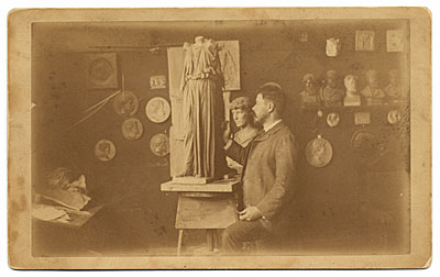 Olin Warner in his studio