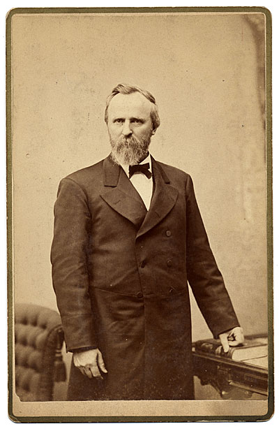 Portrait of President Rutherford B. Hayes.