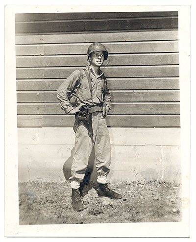 Unidentified soldier in uniform
