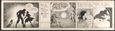 [Coulton Waugh Dickie Dare comic strip,