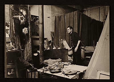 [Hugo Weber in his Paris studio]