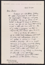 Max Weber letter to Forbes Watson
