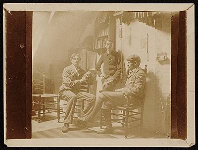 [Edwin Ambrose Webster with friends]