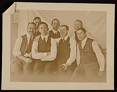 [Edwin Ambrose Webster with a group of men]