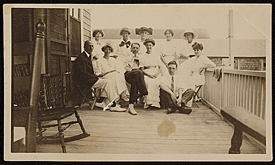 Group of unidentified people in Provincetown