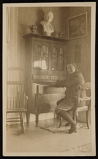 [E. Ambrose Webster at home]