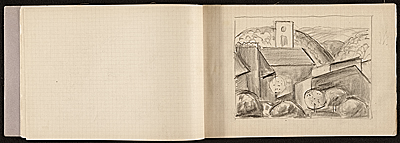 Edwin Ambrose Webster sketchbook and notebook of travel in France