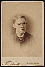Edwin Ambrose Webster as a young man