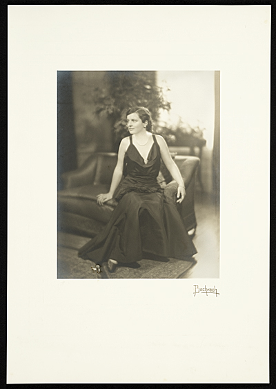 Katharine Lane Weems in evening dress