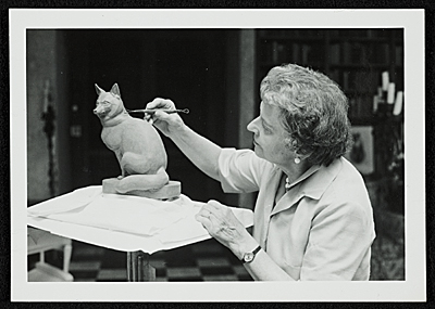 [Katharine Lane Weems at work]