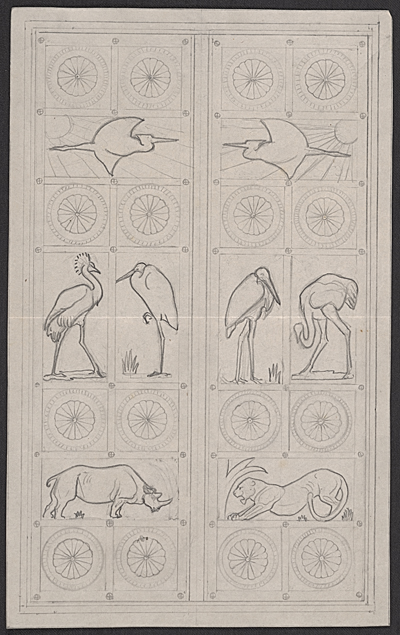 Design for the doors at Harvards Institute of Biology