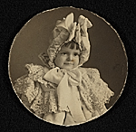 Katharine Lane Weems as a little girl