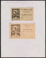 [A page of membership cards for The People's Art Guild valid for the 1916 ]