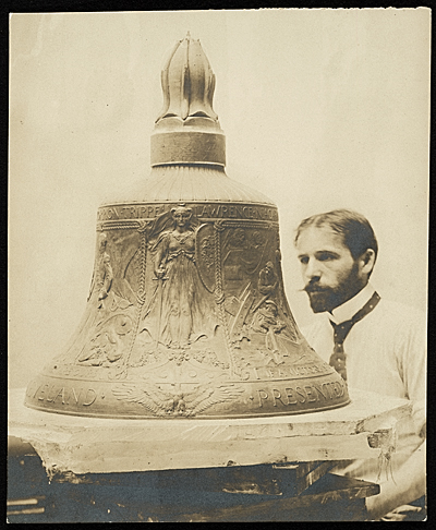 Adolph Weinman with bell