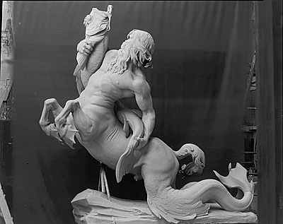 Model for a centaur created for the Fountain of the Centaurs, Jefferson City, Missouri