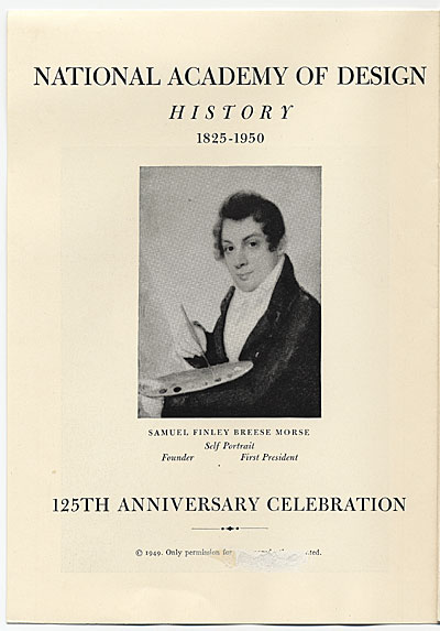 [National Academy of Design History 1825-1950, 125th Anniversary Celebration Booklet]