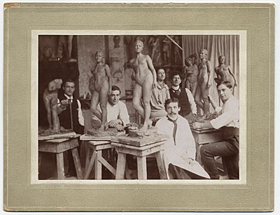 [Adolph Weinman at the Art School of the Art Students League, New York City]