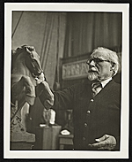 Adolph Weinman in his studio