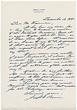 [Joseph Emile Renier to Adolph A. Weinman page 1]