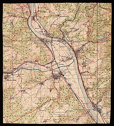 [Topographic map of the Rhine]
