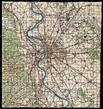 Topographic map of Cologne