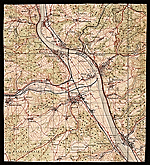 [Topographic map of the Rhine ]