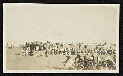 [Combing, drying and transporting wool for American Relief, Baghdad, Persia]