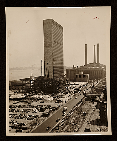 [Construction of the United Nations building]