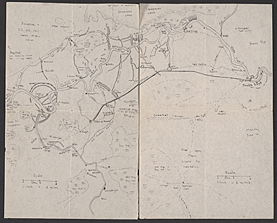 [Hand drawn map of an area in southern Iraq]